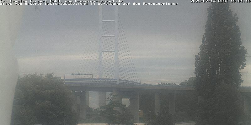 Webcam Rügenzubringer zwischen Stralsund und Rügen