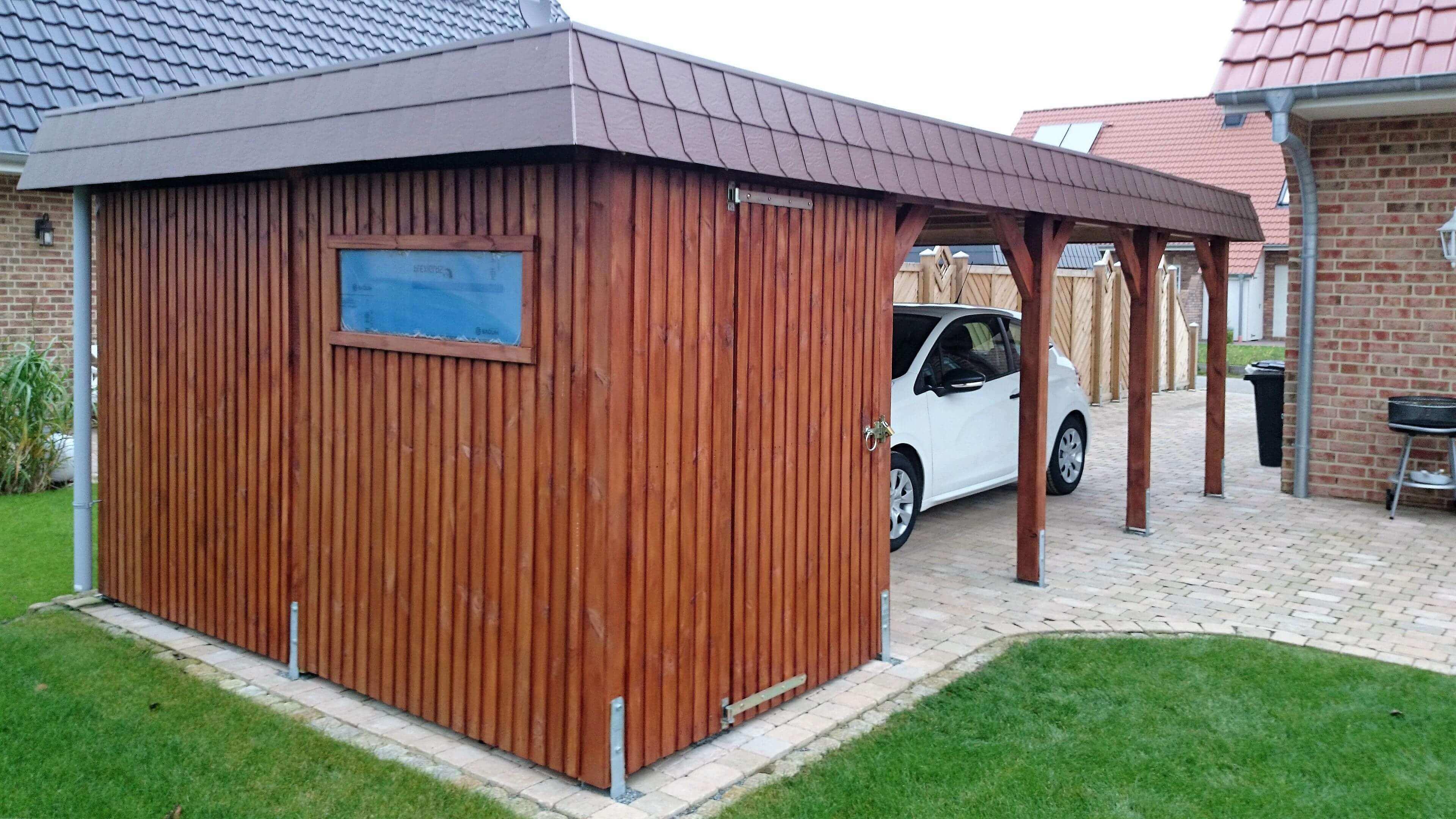 flachdach carport aus holz mit carport konfigurator planen gro e carport bilder galerie. Black Bedroom Furniture Sets. Home Design Ideas