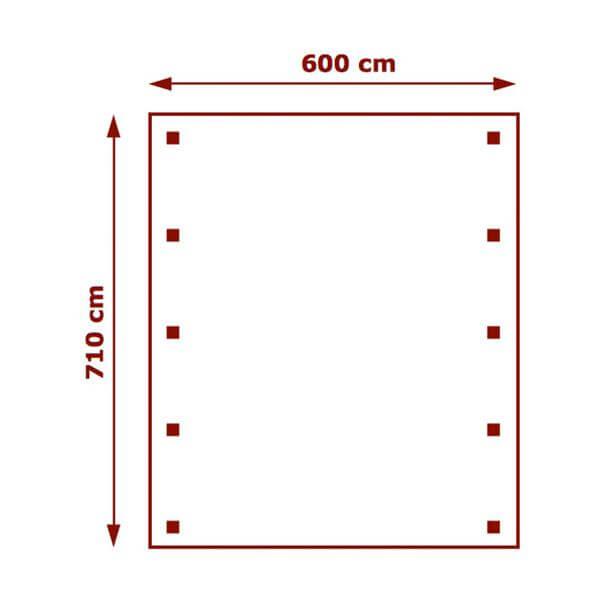 600cm x 710cm